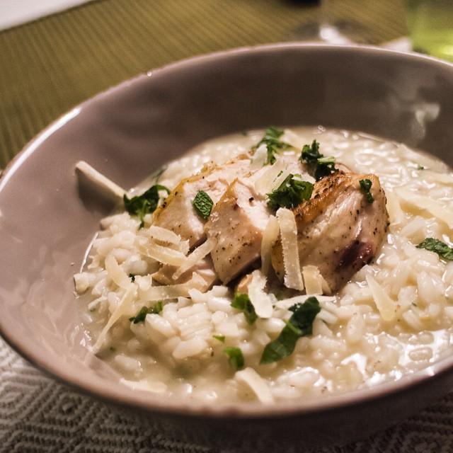Vin till risotto kyckling
